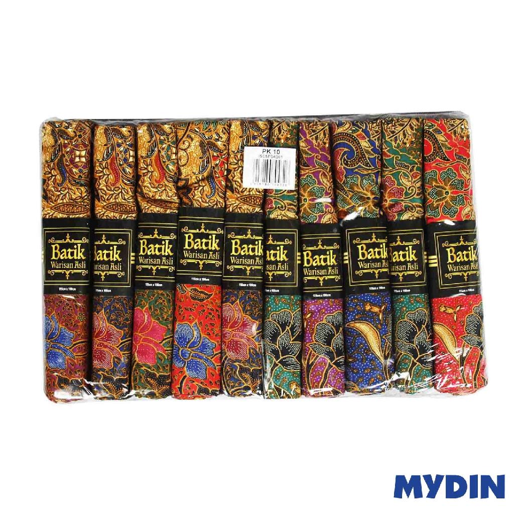 Assorted Batik Sarung Warisan ISCSPD4D01 (115cm x 185cm x 10pcs)