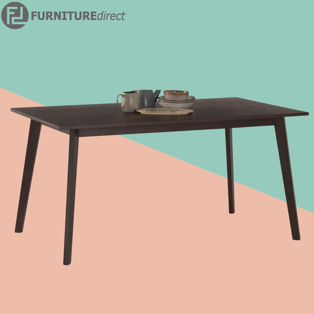 CUBIST solid rubberwood dining table/ meja makan