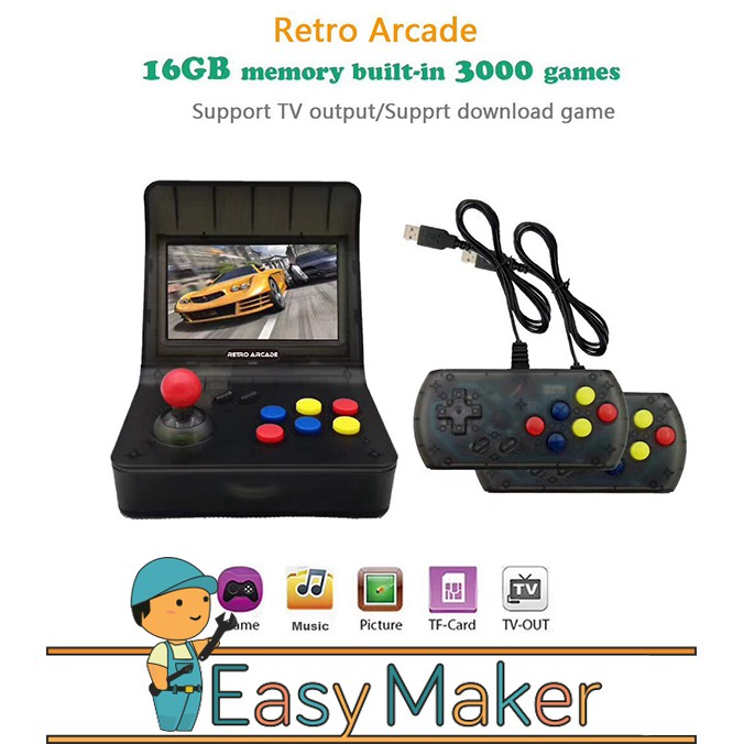 Mini Arcade Games Portable Machine Handheld Retro Game