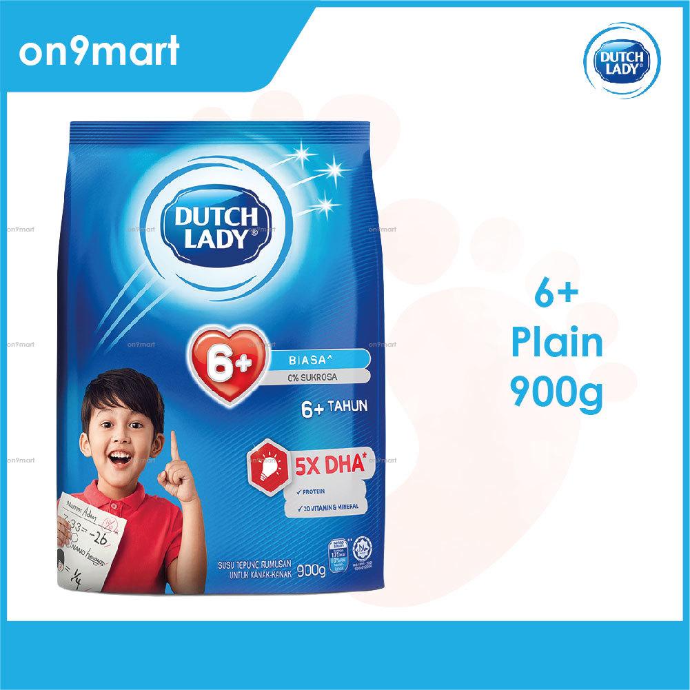 Dutch Lady 6+ Plain Formulated Milk Powder 900g