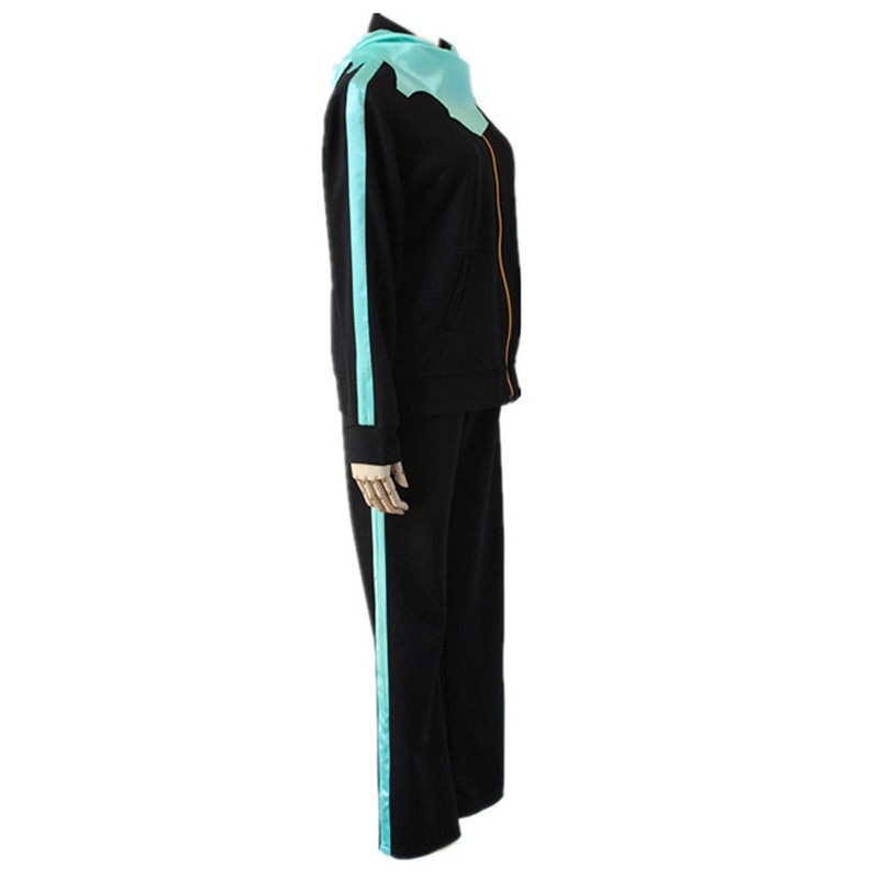 Noragami Yato Anime Cosplay Costume Sports Gym Suit Set coat pant scarf Track