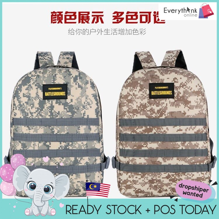EVON PREMIUM BG005 BACKPACK PUBG MOBILE SCHOOL BAG TEENAGER LADIES GUY MAN CARRY