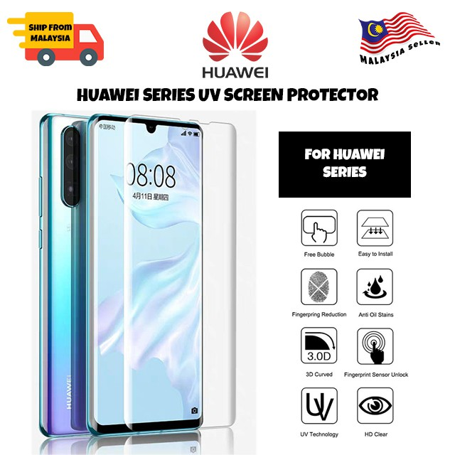 UV Light Curved Tempered Glass For Huawei P40Pro+/P40Pro/P30Pro/Mate30Pro/Mate20Pro