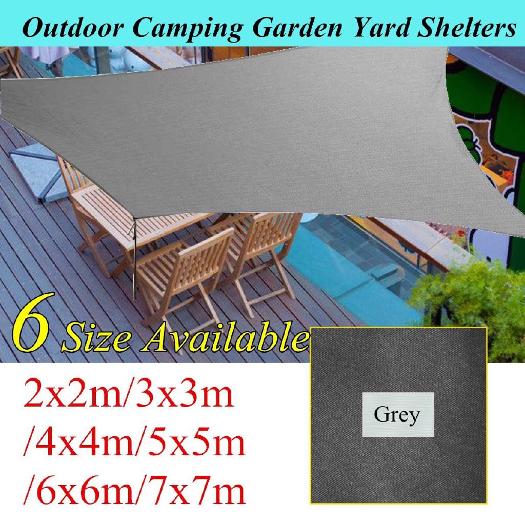 Sun Shade Sail Garden Patio Awning Canopy Sunscreen UV Block 5x5m Yellow Beach