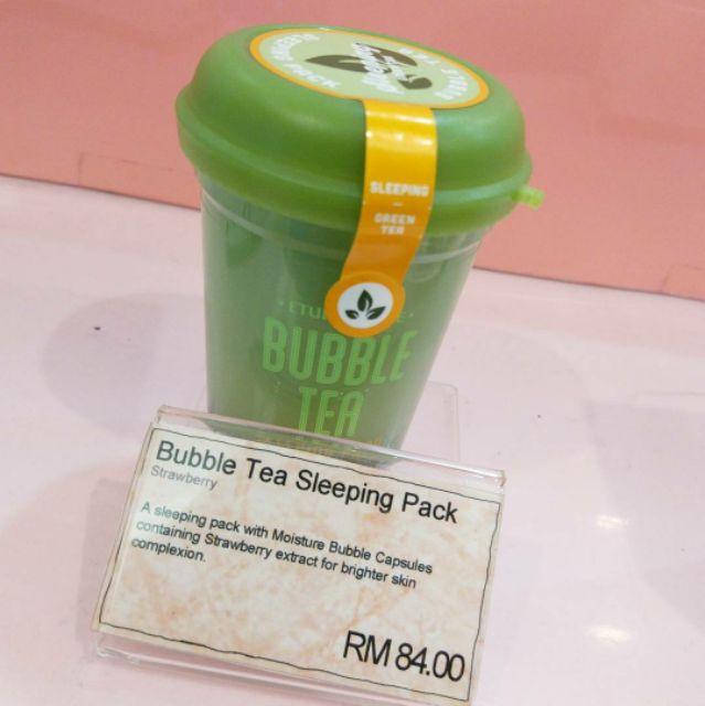 【CLEARANCE】Etude House Bubble Tea Sleeping Pack (Green Tea)