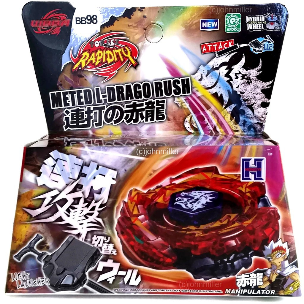 +HEAVY METAL FACE BOLT RED Fusion Masters Beyblade METED L-DRAGO RUSH