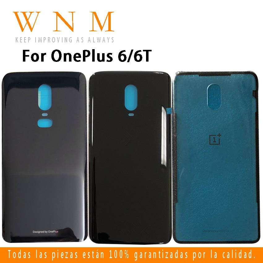 original high quality for oneplus 6 6T 1+6 1+6T A6000 A6003 glass Battery  back Cover Housing replacement