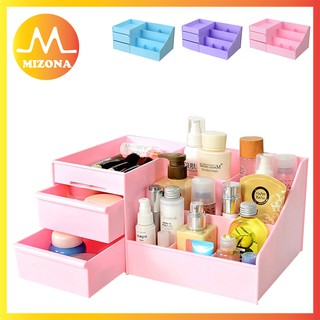 4a44b086200e Desktop Cosmetics Storage Box Drawer Plastic Large Storage Box ...