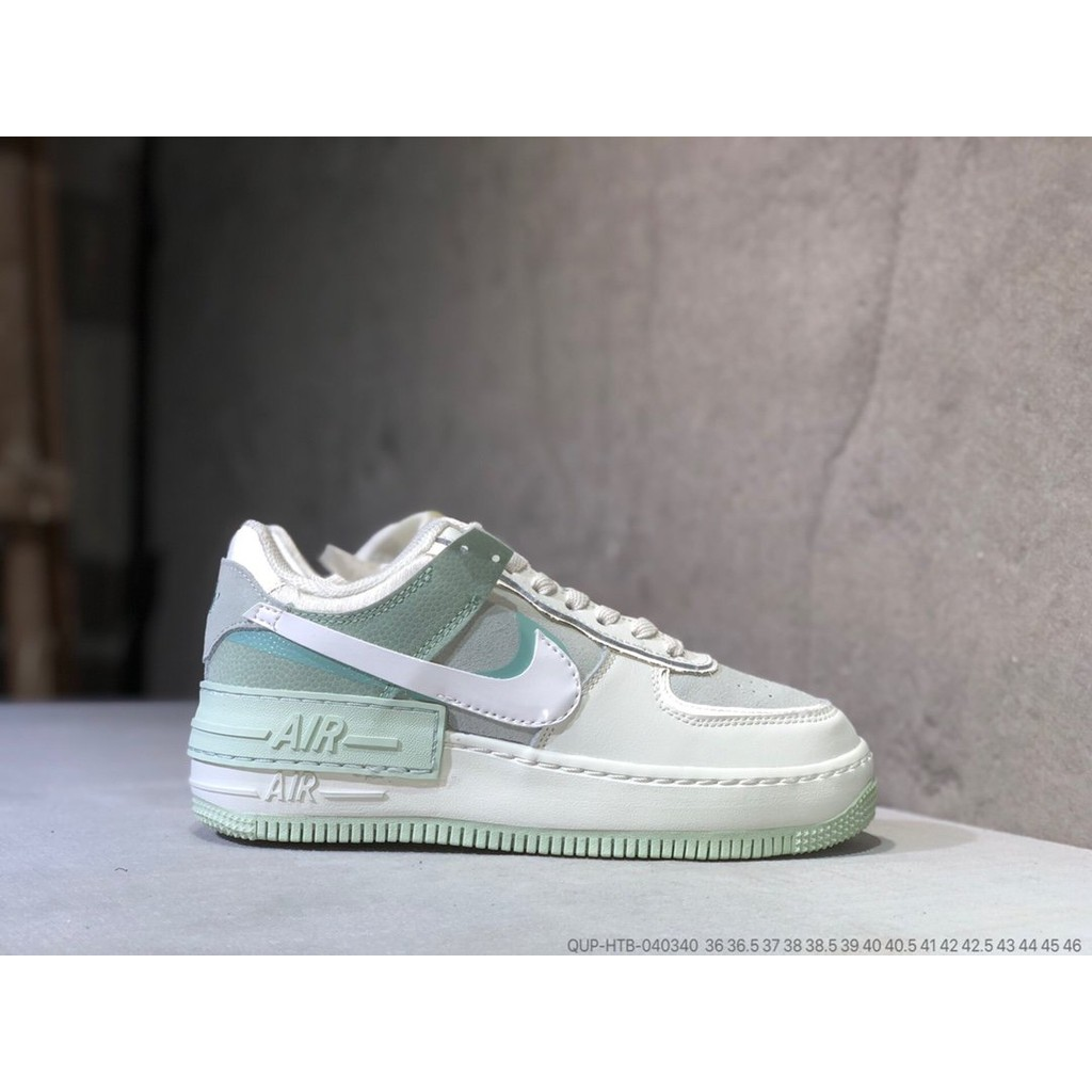 Extranjero Alacena educar  Nike NIKE Air Force Macaron Gray Light Green 3M Reflective Nike AF1 Shadow  Classic Air Force One Leisure Sports Non-slip Low-Top Sneakers | Shopee  Malaysia