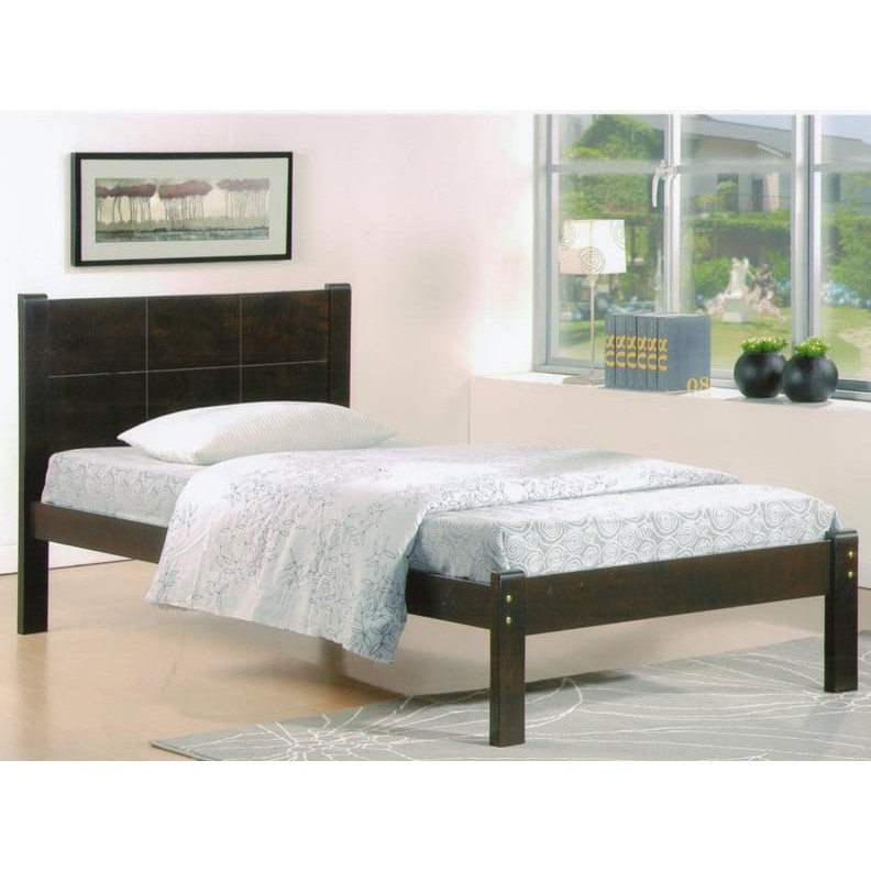 CINDY SB6002 Single Wooden Bed black cherry/capuccino color