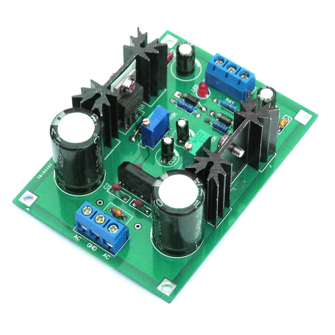 AC//DC 12V 24V LM317 LM337 Linear Voltage Regulator Adjustable Power Supply Kits