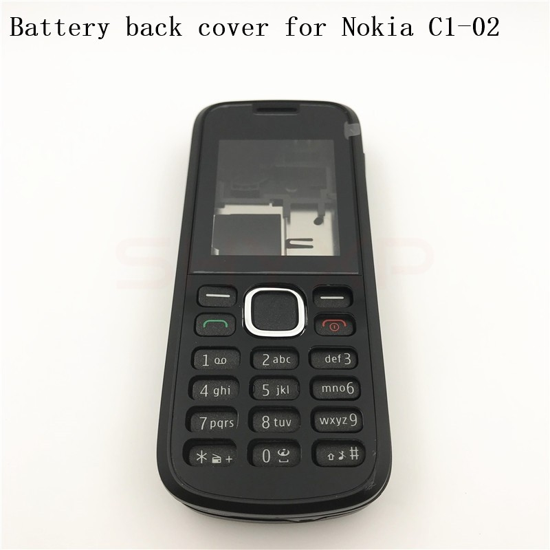 huge selection of 189c6 331d6 Battery Back Cover Housing For Nokia C1 C1-02 Battery Back Cover+English  Keypad