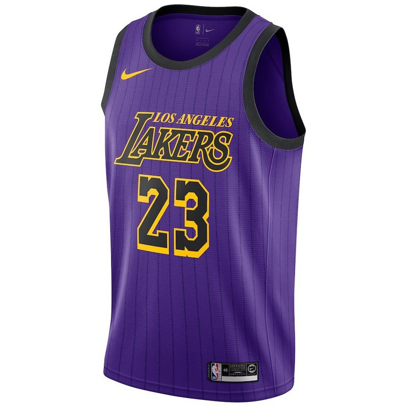 huge selection of 94a8d 744d1 really stock cod LeBron James #23 Los Angeles Lakers NBA Jersey discount  purple