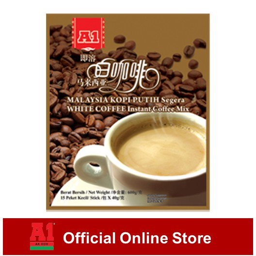 A1 Instant Malaysia White Coffee - 3 In 1 (40g x 15 sachets)