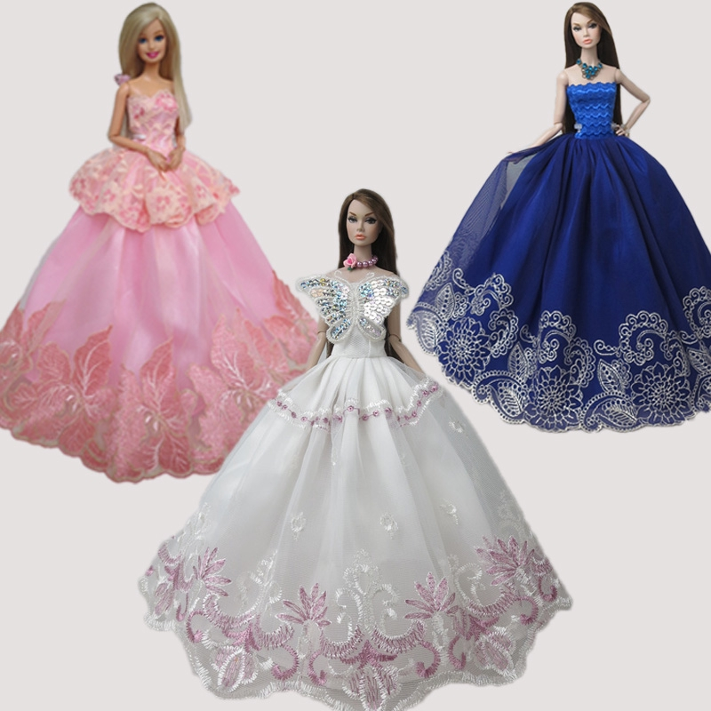 """Fashion Girl Doll Clothes For 11.5/"""" 1//6 Doll Dress Noble Party Gown Doll Outfits"""
