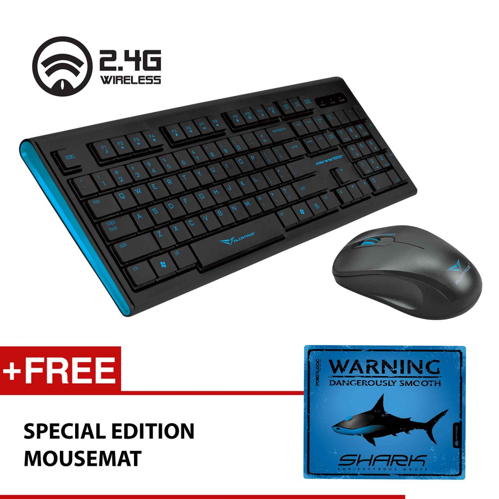 Xplorer Air 2200sl 24ghz Wireless Keyboard And Mouse Combo By Slim Compatible For Laptop Notebook Alcatroz Shopee Malaysia