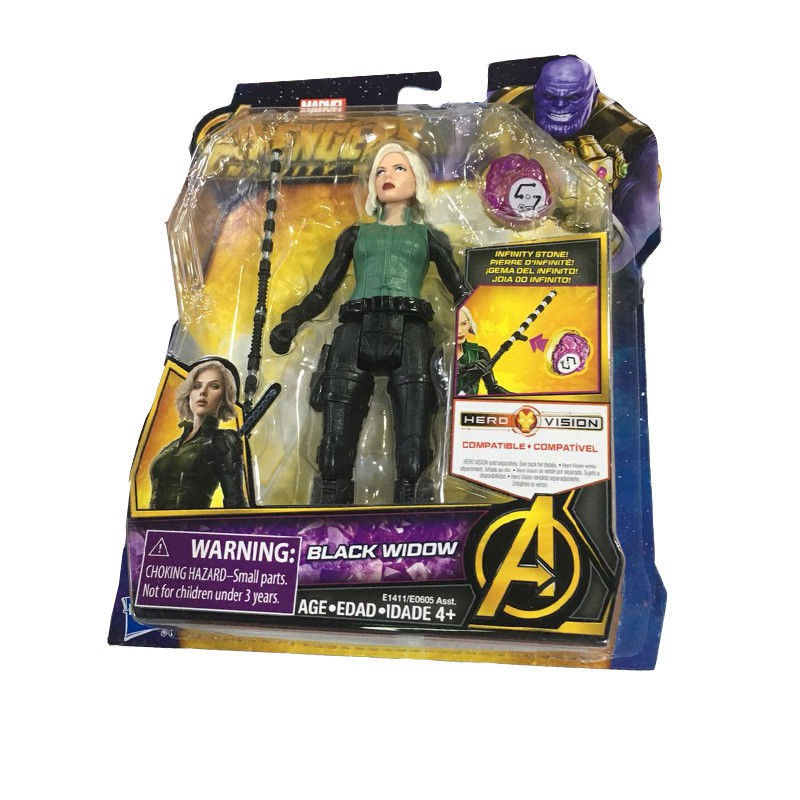 "New Marvel Avengers Infinity War Black Widow 6""Action Figure with Infinity Stone"