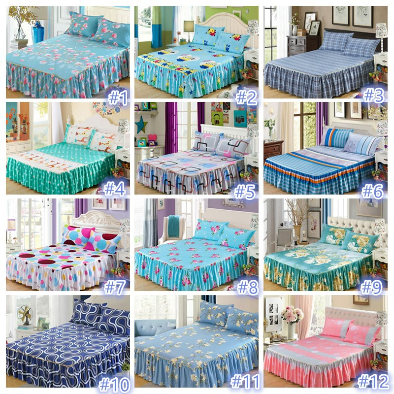 Wisjoy High Quality Super Single Bed Skirt Fitted Sheets Clearance Sales Shopee Malaysia