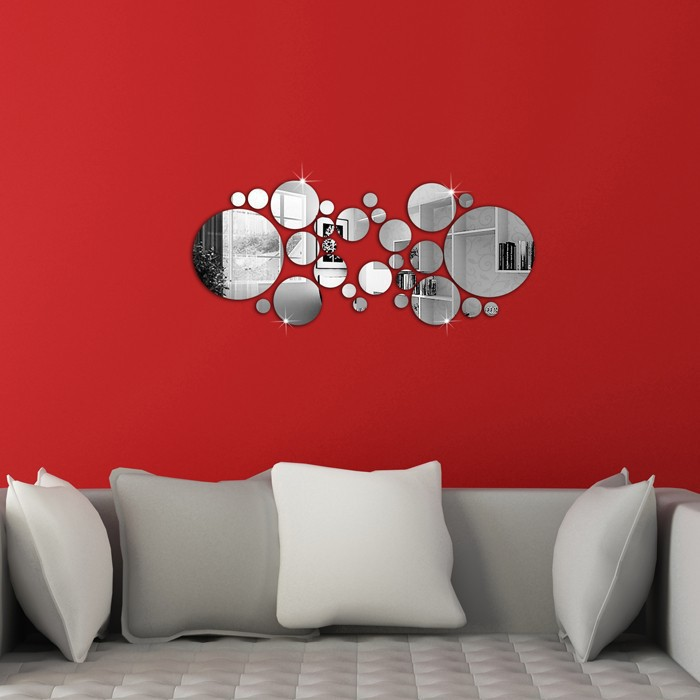 🚛From M'SIA📦 DIY Modern Home Room Mirror Design Wall Decor Stickers