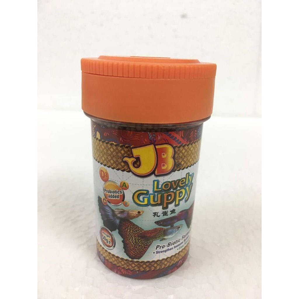 SUPER OFFER 2 BOTTLE JB Lovely Guppy Dedak Guppy 50g
