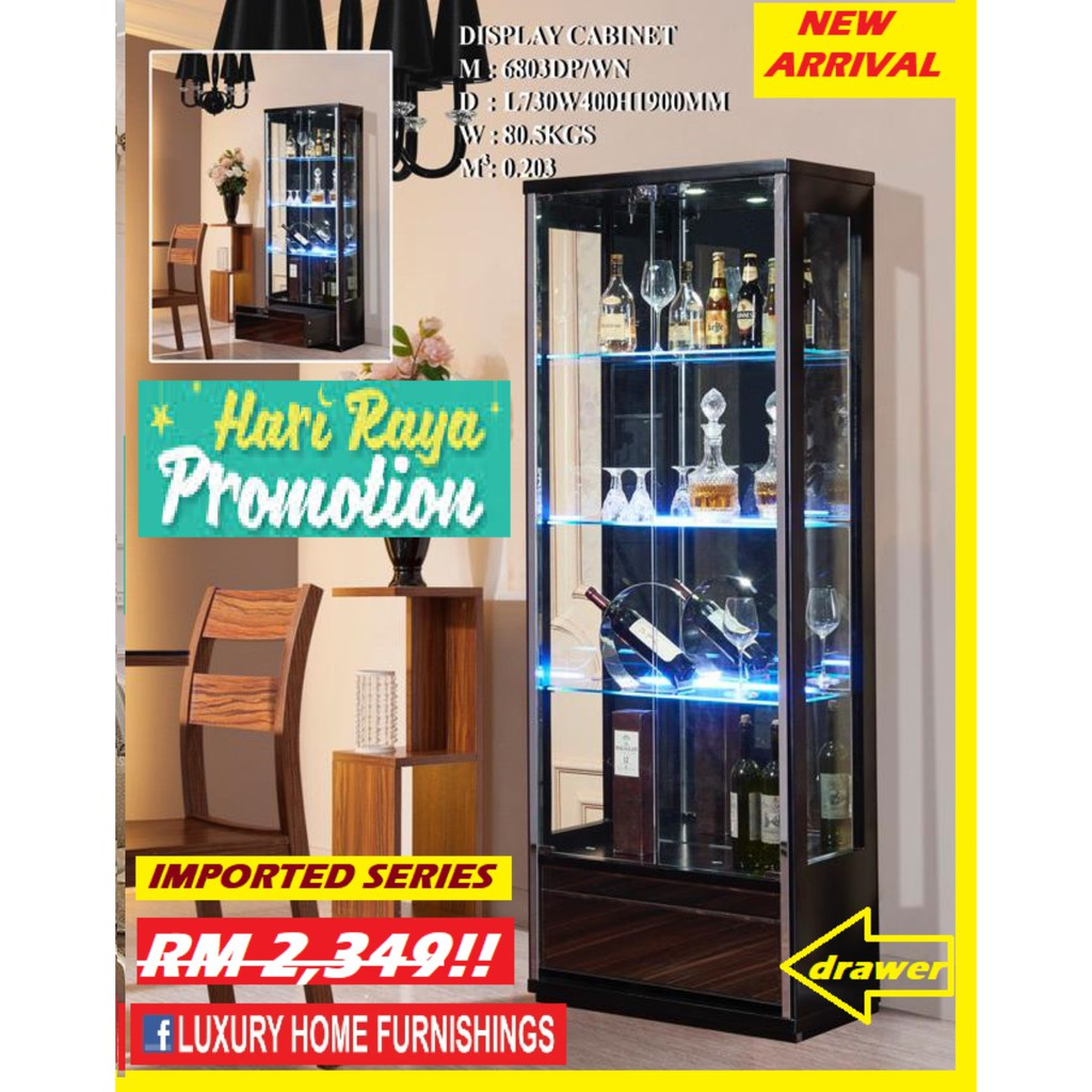 2.4ft x 6.3ft Display Cabinet, BROWN COLOR, Modern DESIGN, IMPORTED Series,!!  RM 2,349!! Hari RAYA PROMOTION 40% Off
