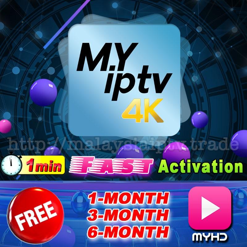 MyIptv4K Malaysia My IPTV Authorised Reseller Fast Activate Myiptv 4K Free  MYHD