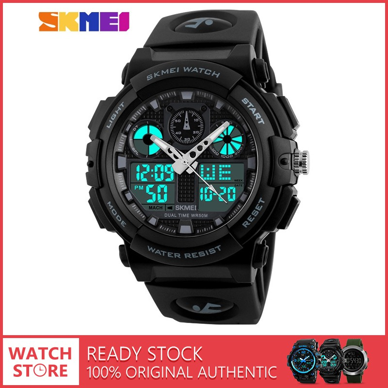 64a1a24bd80f SKMEI 1270 Men Digital Double Time Chronograph Multifunction Sports Watch