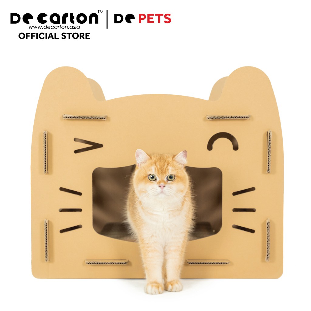De Carton Cardboard Happy Cat House (Rumah Kucing Ceria)