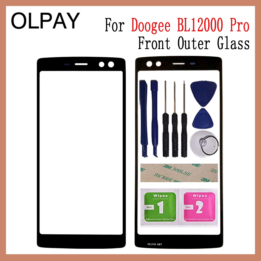 6 0 inch 100% Original For Doogee BL12000 Touch Screen Panel Front Outer  Glass Lens Touch Screen NO LCD Digitizer