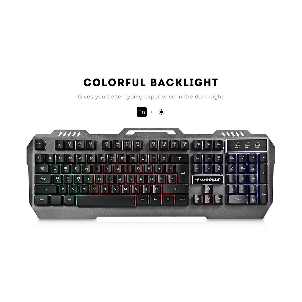 Warwolf K12 Wired Keyboard with RGB Back-light