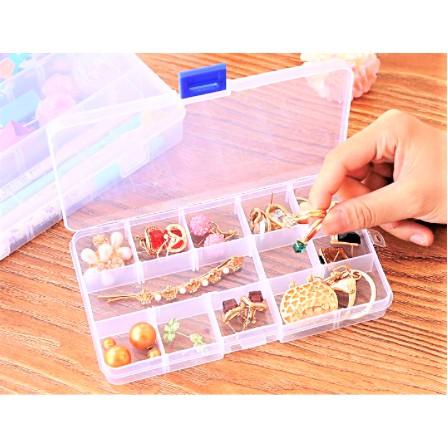 Pill Box 15 Grids Medicine Box Splitters Pill Holder Organizer Container Case Multipurpose Storage Container