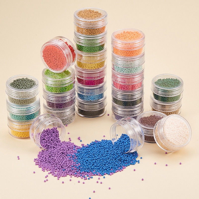 1 Box 40800pcs 13/0 FGB® Opaque Glass Seed Beads Round 24 Colors Hole: 1mm