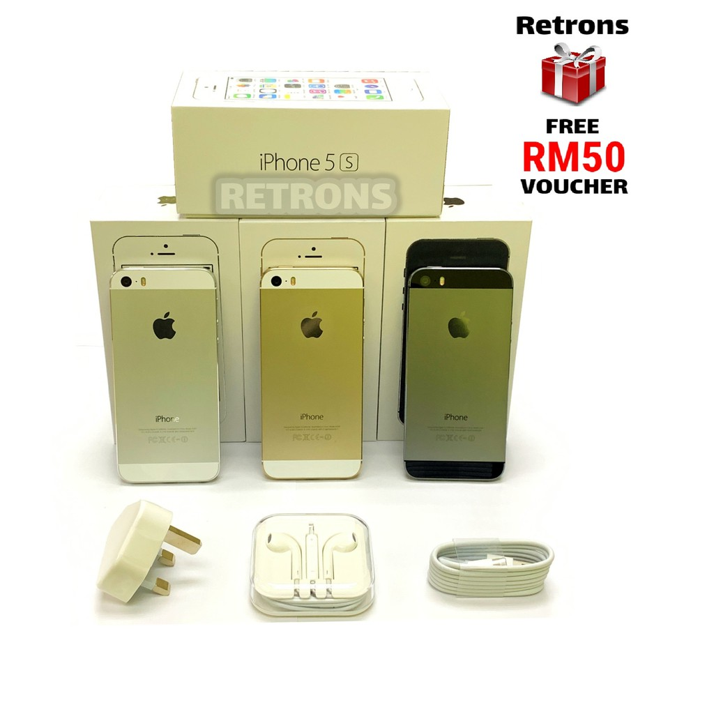 🇲🇾 Ori Class A+ Used Apple iPhone 5S 64GB 98% Like New [1 Month Warranty] FREE Retrons RM50 Voucher