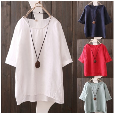 Womens Irregular Tops Tunic Blouse Off Shoulder Shirts 3//4 Sleeve Batwing Solid