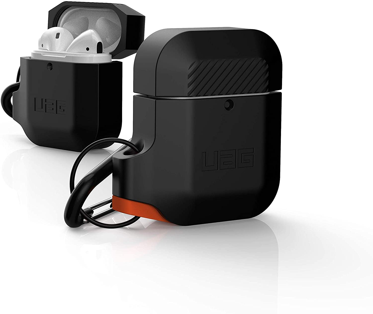 Original UAG Silicone AirPods (1st Gen & 2nd Gen) Protective Rugged Water Resistant Soft-Touch with Detachable Carabiner