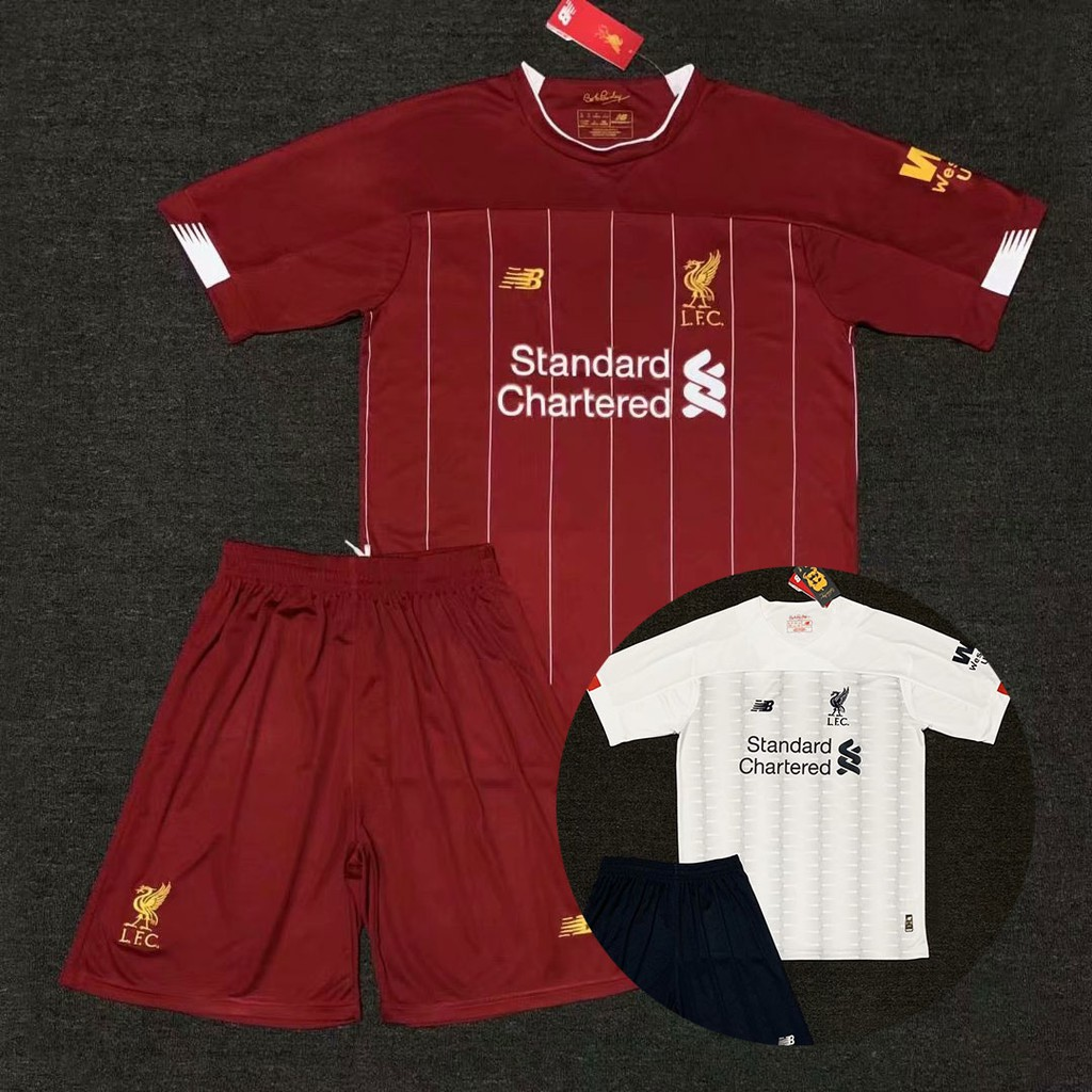 new concept e3c31 9f00f 2019 2020 Adult Liverpool Football Kit Salah Jersi Set Home and Away  Liverpool 19/20 Soccer Jersey Football Shirt