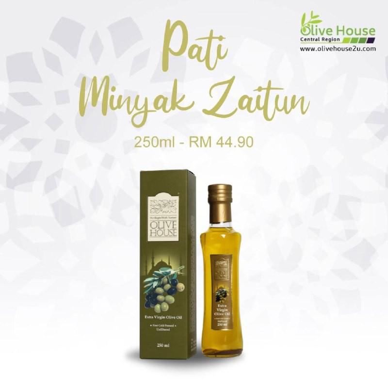 [ BEST SELLING ] Pati Minyak Zaitun Asli OLIVE HOUSE [250ml] Extra Virgin Olive Oil Mechanically Cold Pressed