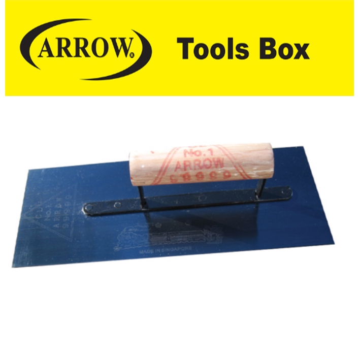 ARROW AT4 AT414 AT412 HEAVY DUTY PLASTERING TROWEL BLUE COLOR EASY USE SAFETY GOOD QUALITY