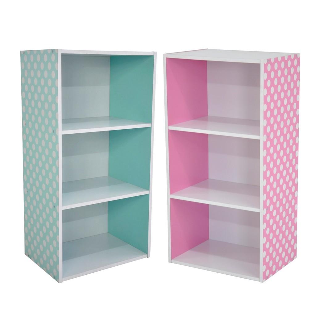 PAMICA Lily SV6120 3 Tier Bookcase Storage Shelf (Blue/Pink)