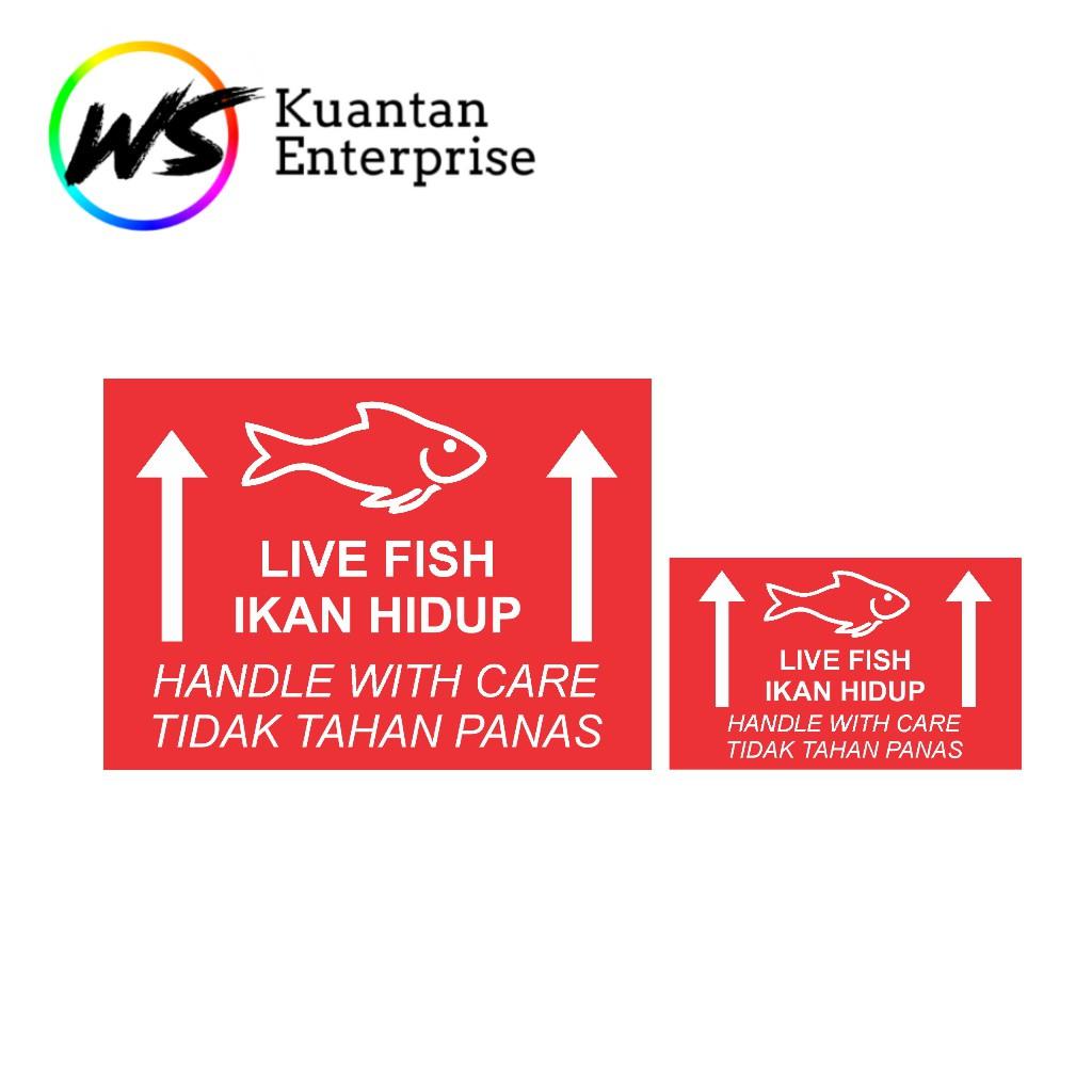 【100% Ready Stock】WATERPROOF STICKER Live Fish Sticker / Ikan Hidup Sticker / Fragile Sticker / Betta Fish Sticker