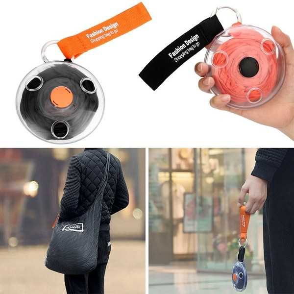 Portable Roll Up In Small Case Large Capacity Shopping Bag