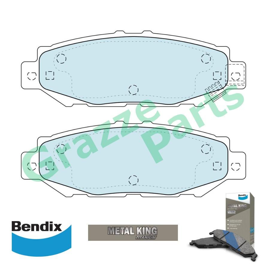 Bendix Metal King Titanium Disc Brake Pad Rear DB1396 - Lexus GS300 SC300 SC400