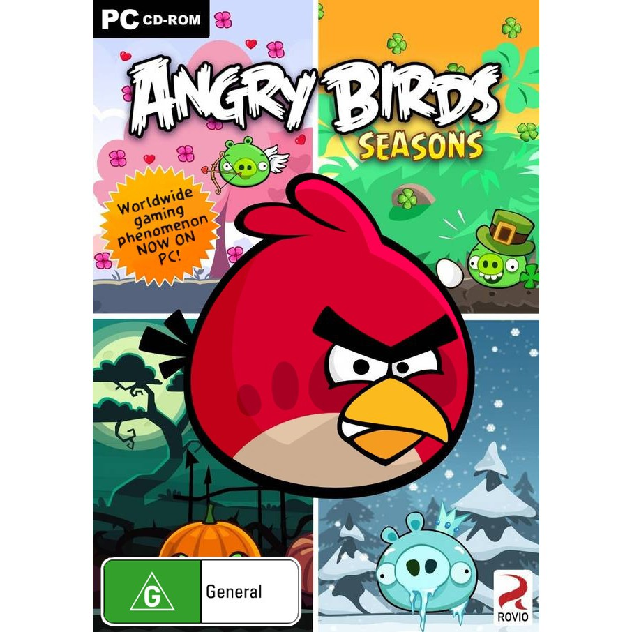 PC DVD OFFLINE Angry Birds Seasons 2012