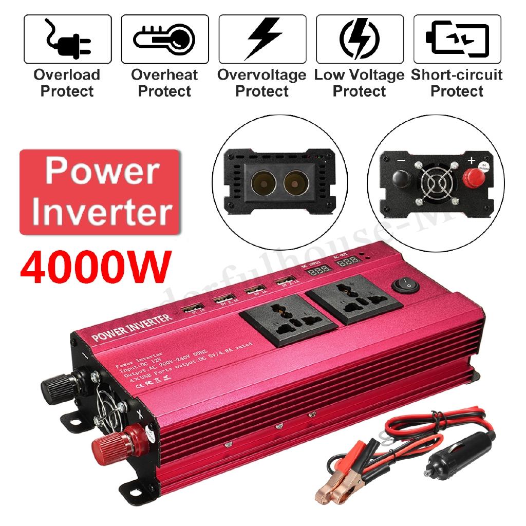 Solar Power Inverter Led 12v 24v Dc To 110v 220v Ac Sine Wave 12vdc 230vac 60w Circuit Converter Shopee Malaysia
