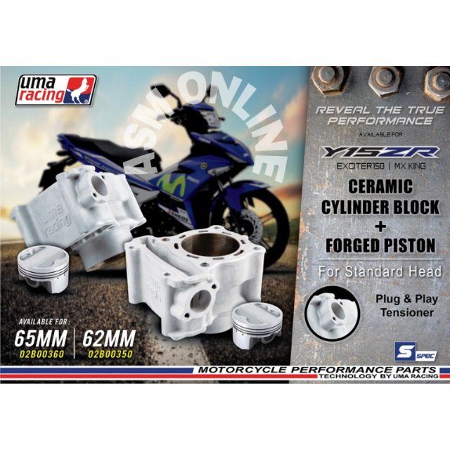 BLOCK UMA RACING Y15ZR CERAMIC CYLINDER 65MM/62MM
