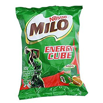 Milo  Cube ไมโลคิวป์ (1ห่อ มี 100 เม็ด) ถูกและอร่อ