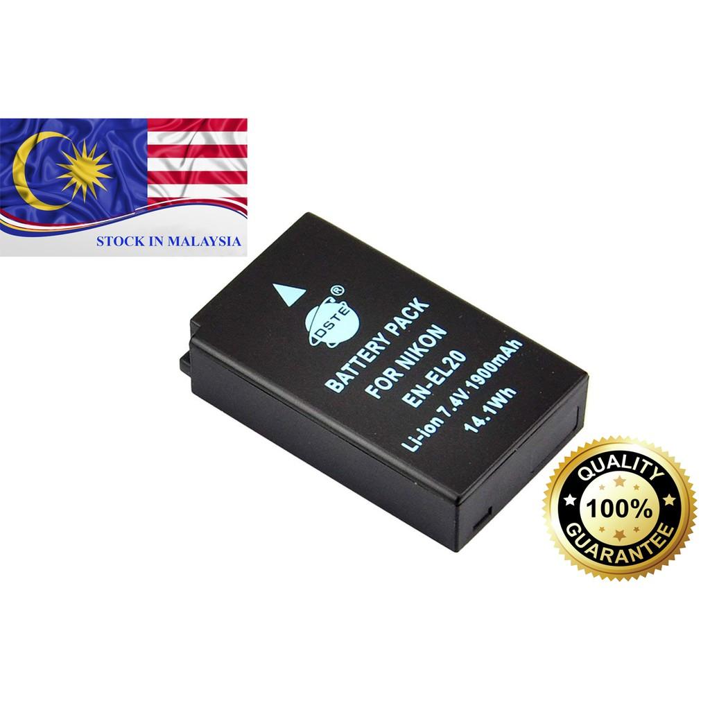 DSTE EN-EL20 For Nikon COOLPIX A AW1 S1 1 J1 J2 J3 (Ready Stock In Malaysia)
