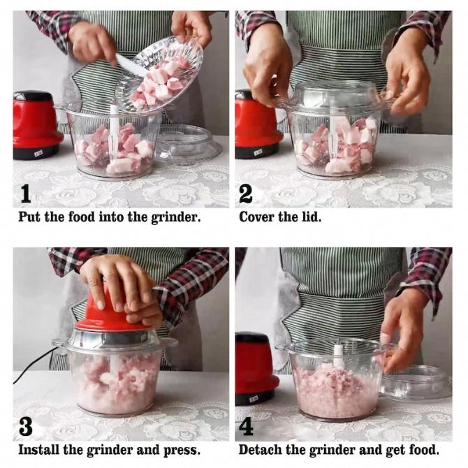 2L Electric Meat Grinder Meat Mixer Blender Meat Grinder Cooking Machine