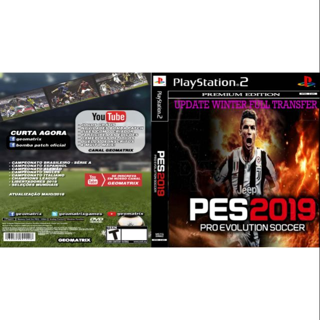 PS2 Games CD Collection PES 2019 Updated Winter Full Transfer