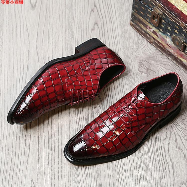 Zero Drop Small Shop Mr Genuine Leather Business Dress Shoes Shopee Malaysia